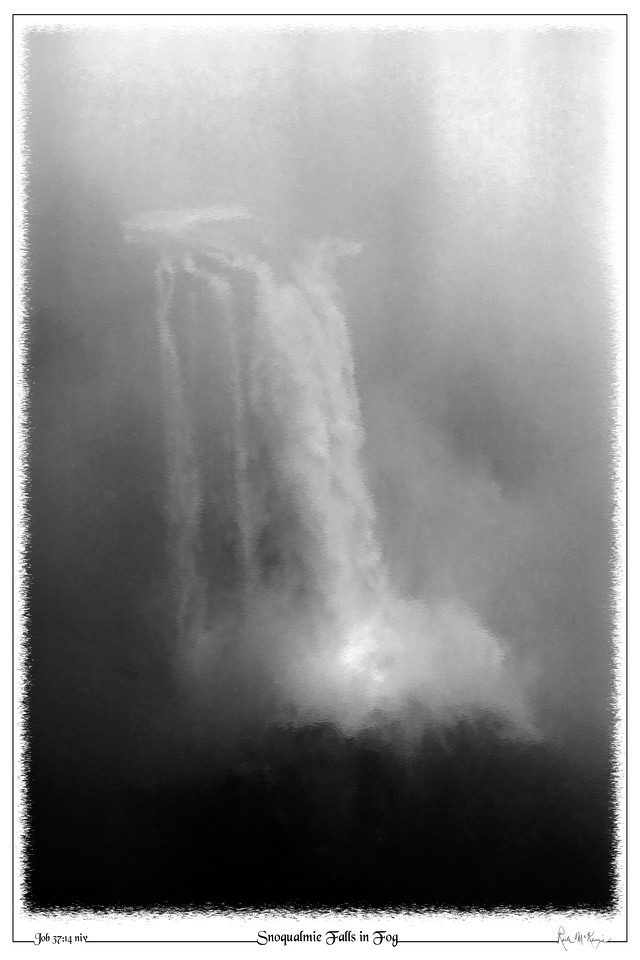 Snoqualmie Falls in Fog-Snoqualmie Falls, WA