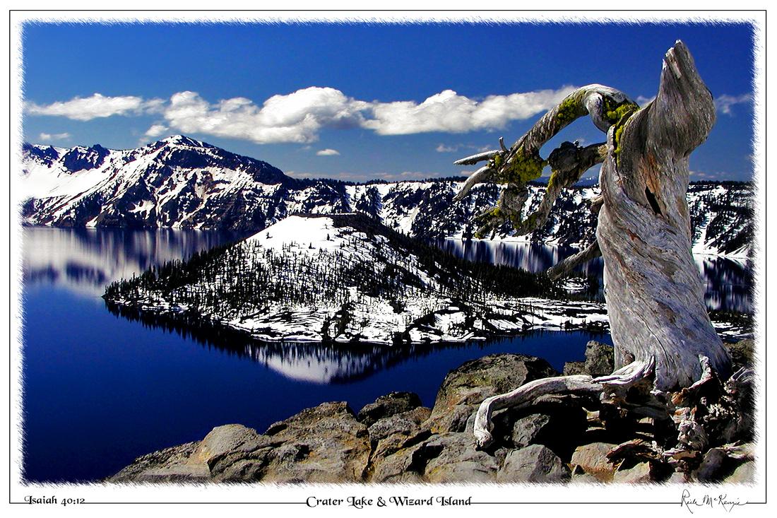 Crater Lake & Wizard Island-Crater Lake Natl Pk, OR