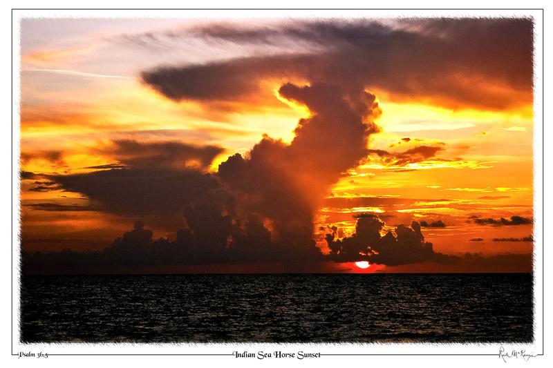 Indian Sea Horse Sunset-Indian Beach, FL