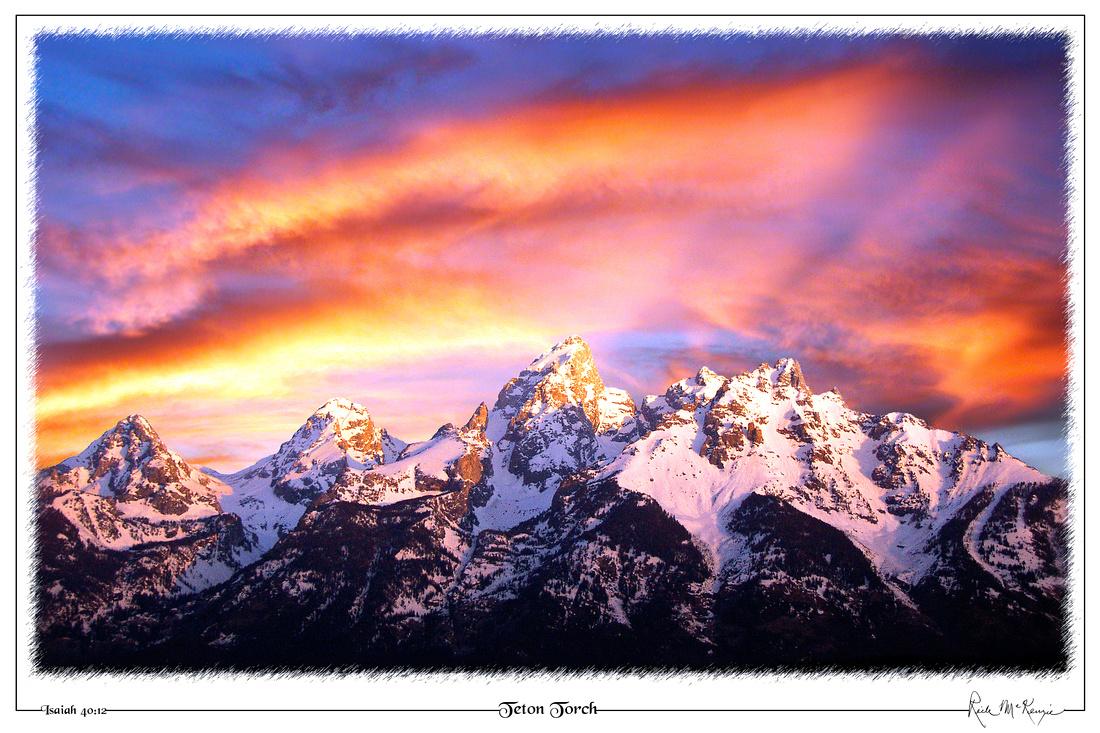 Teton Torch-Grand Teton Natl Pk, WY