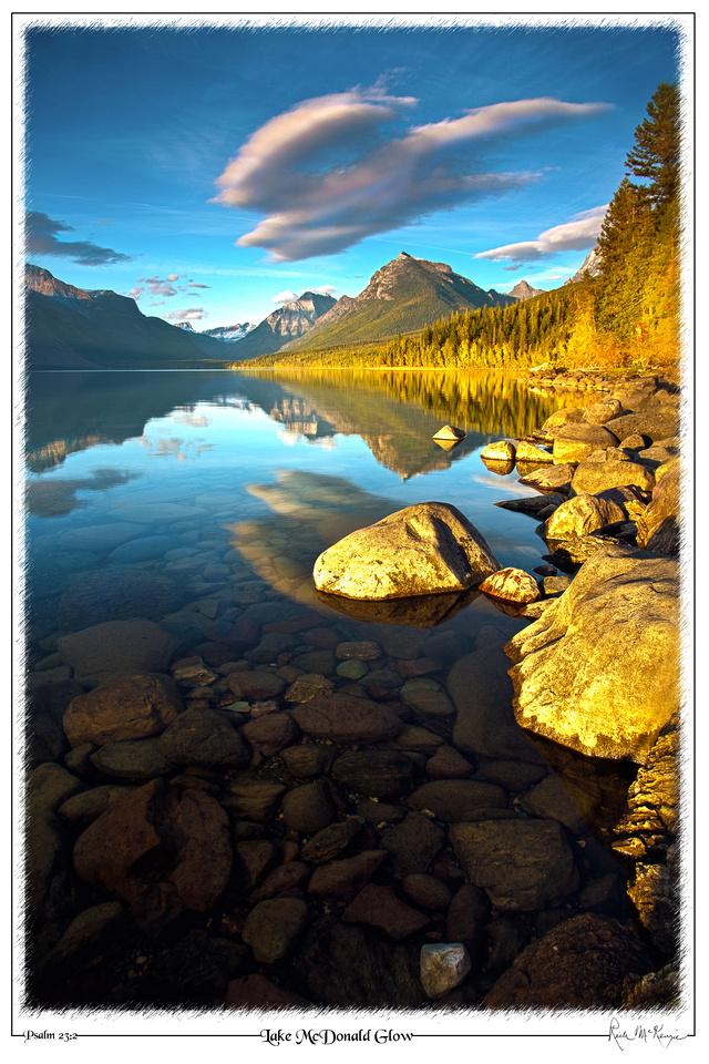 Lake McDonald Glow-Glacier Natl Pk, MT