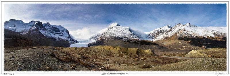 Toe of Athabascar Glacier- Jasper Natl Pk, Alberta, CAN