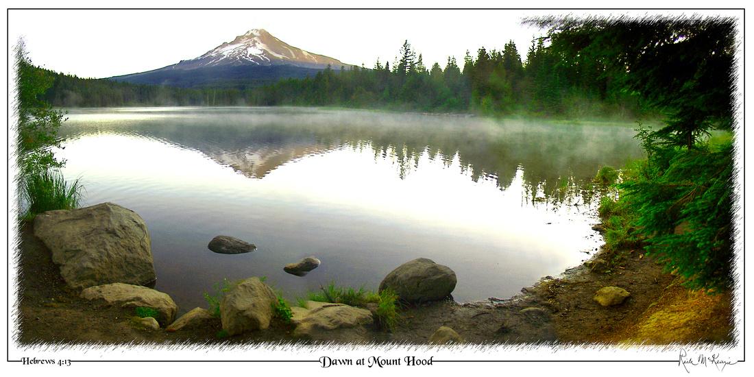 Dawn at Mt Hood-Trillium Lake, Mount Hood, OR