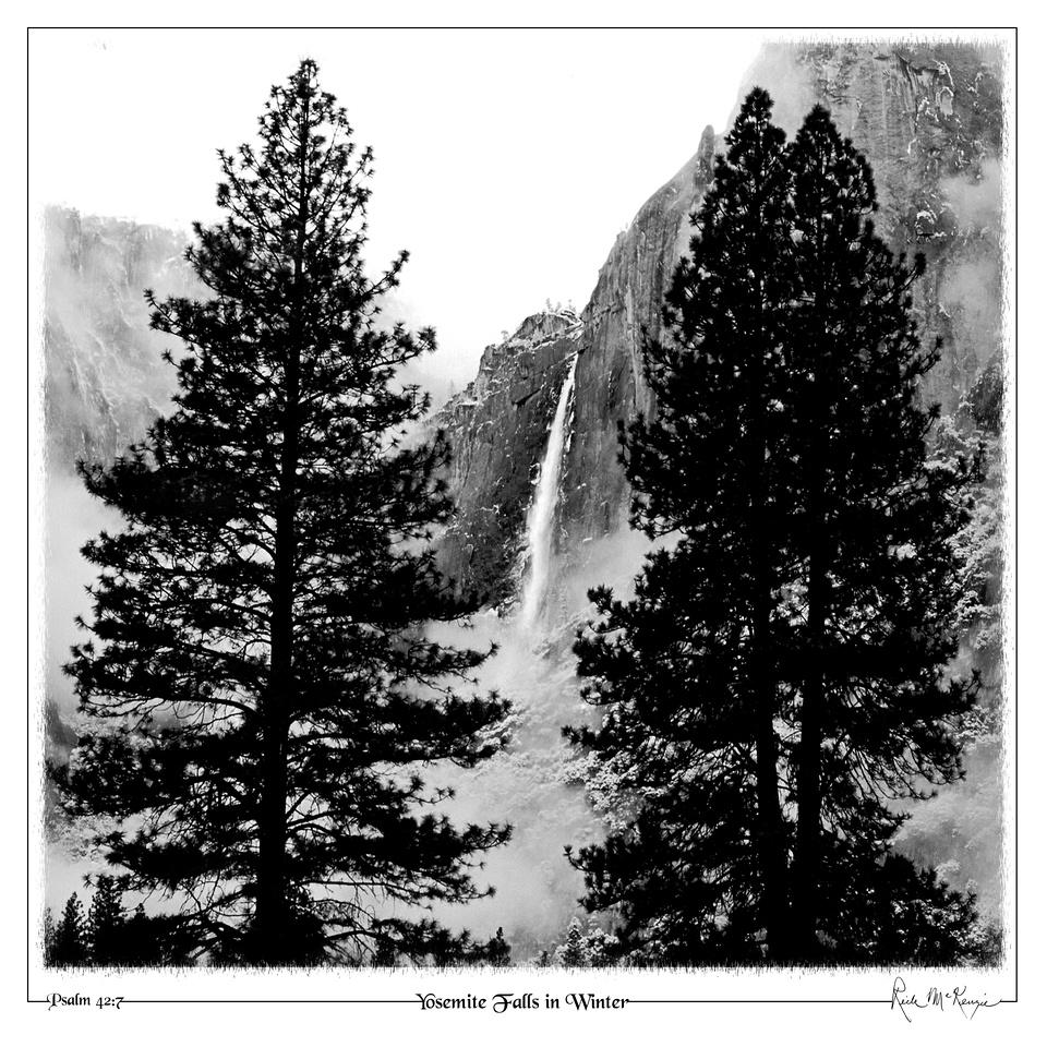 Yosemite Falls in Winter-Yosemite Natl Pk, CA
