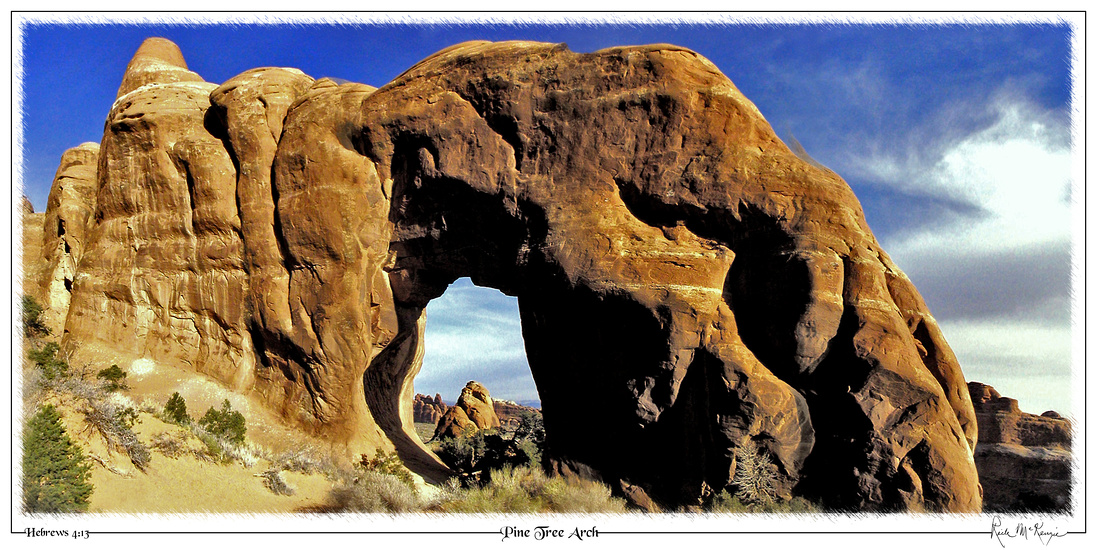Pine Tree Arch-Arches Natl Pk, UT