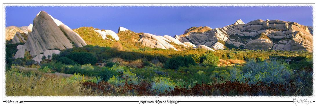 Mormon Rocks Range-Cajon Junction, CA
