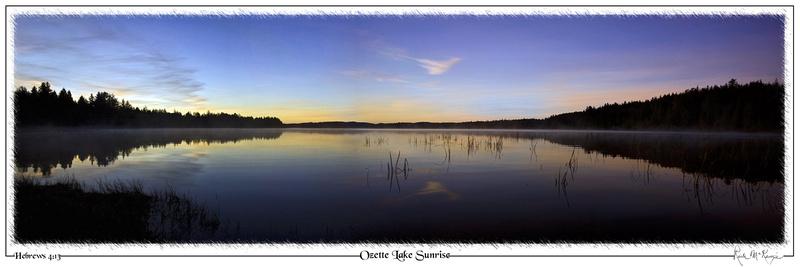 Ozette Lake Sunrise-Olympic Natl Pk, WA
