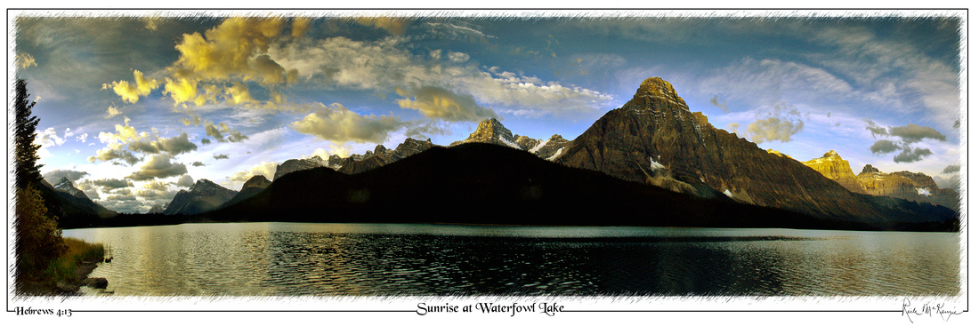 Sunrise at Waterfowl Lake-Banff Natl Pk, Alberta, CAN