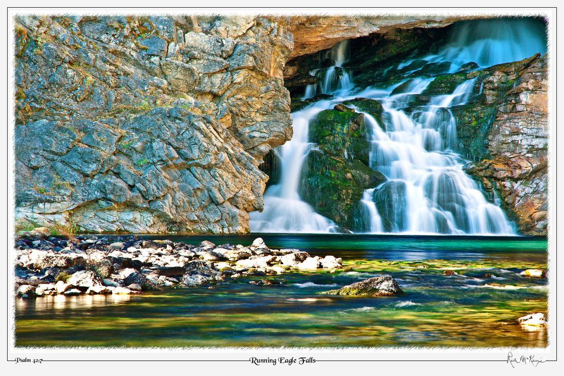 Running Eagle Falls-Glacier Natl Pk, MT