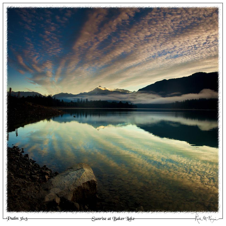 Sunrise at Baker Lake-Mount Baker NRA, WA
