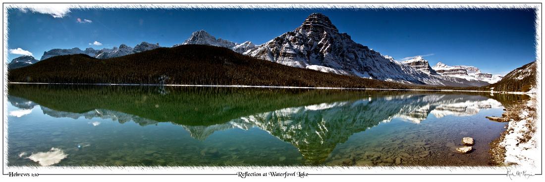Reflection at Waterfowl Lake-Banff National Park, Alberta, CAN