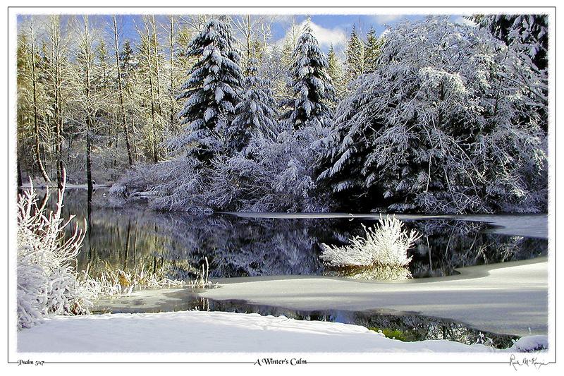 A Winter's Calm-Brewster Lake, North Bend, WA