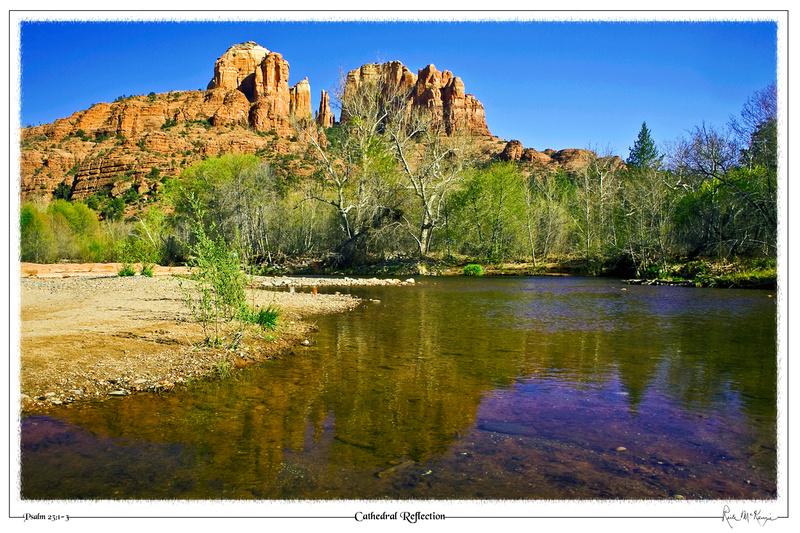 Cathedral Reflection-Cathedral Rock at Oak Creek, Sedona, AZ